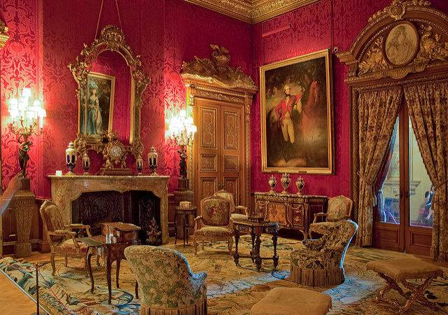 Red Drawing Room Waddesdon Manor Buckinghamshire