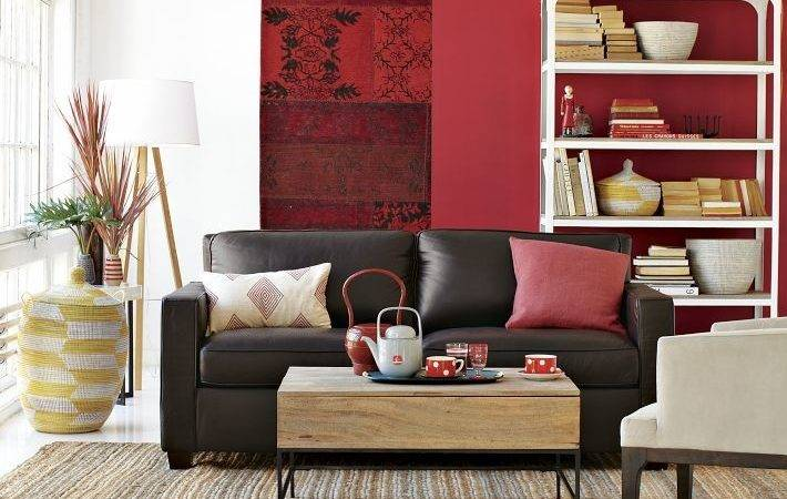 Red Feature Color Wall Interior Design Ideas