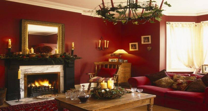 Red Gold Living Room Decorating Ideas Modern House