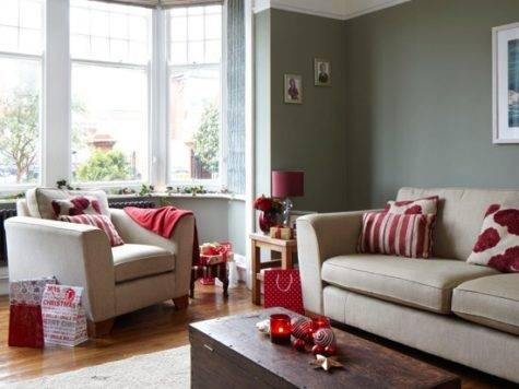 Red Grey Living Room Decorating Ideas