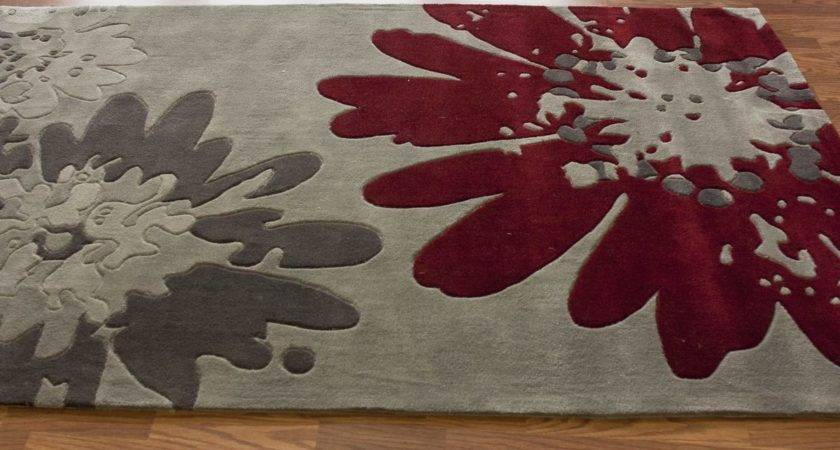 Red Grey Rugs Easy Home Decorating Ideas