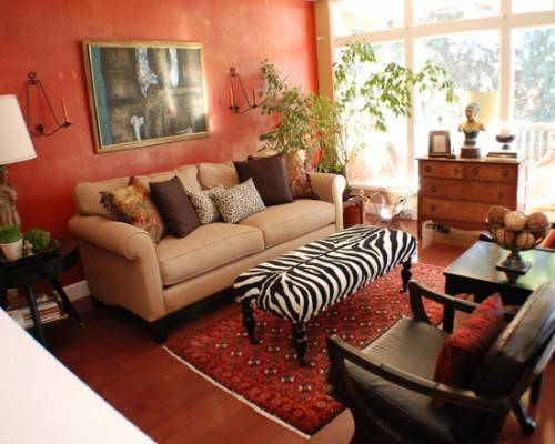 Red Living Room Beautiful Homes Design