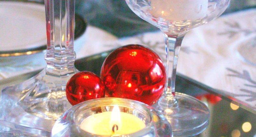 Red Silver Christmas Table Setting Craft Thyme