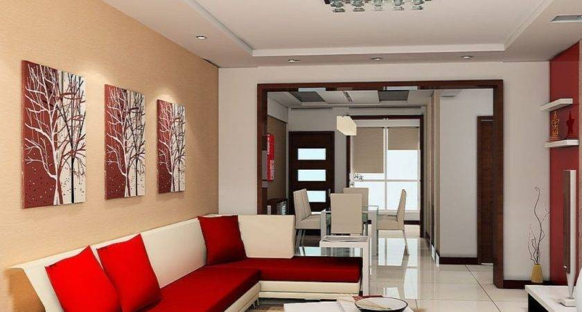 Red Sofa Wall Living Room House