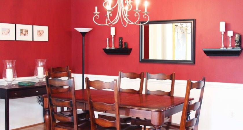 Red Wall Dining Room Ideas Alliancemv
