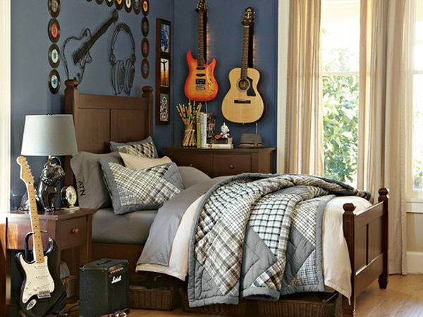 Red White Music Bedroom Themed Ideas