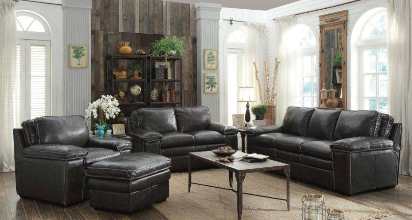 Regalvale Charcoal Living Room Set Coaster