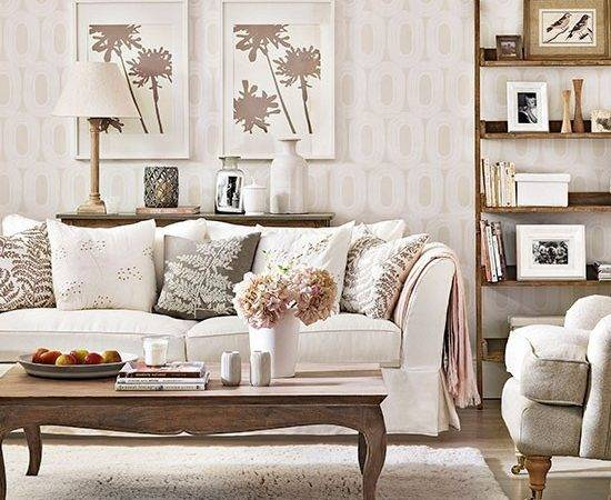Relaxed Neutral Living Room Decorating