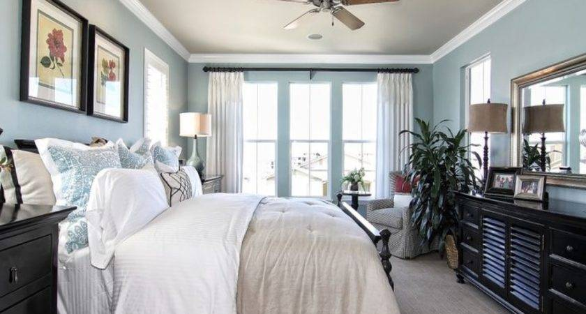 Relaxing Master Bedroom Ideas Light Blue White