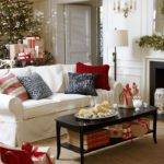 Remarkable Christmas Living Room Decor White Couch