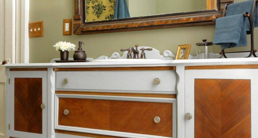 Repurpose Dresser Into Bathroom Vanity Tos Diy