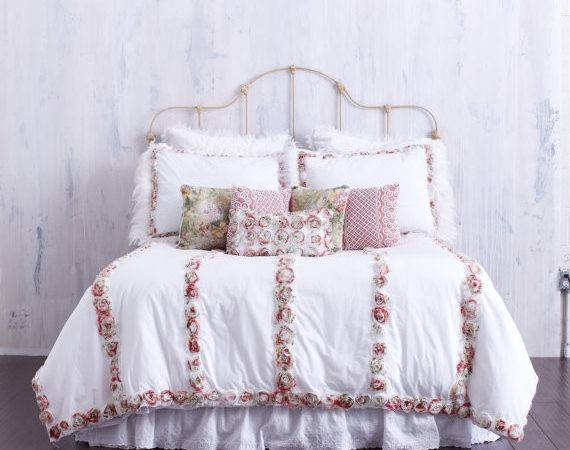 Rosette Bedding Decor French Country Bedcover
