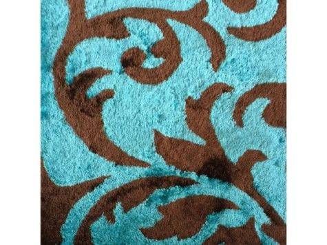 Rug Addiction Hand Tufted Polyester Turquoise Brown