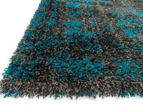 Rugs Express Barcelona Shag Charcoal Dark Teal
