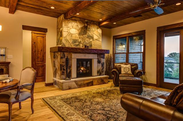 Rustic Contemporary Living Room Other Metro