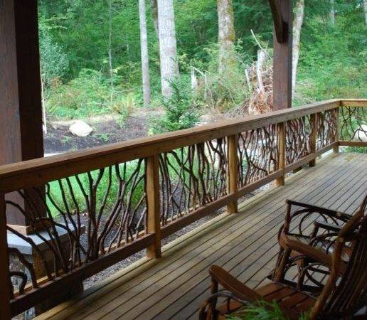 Rustic Deck Railing Traditional Outdoor Products