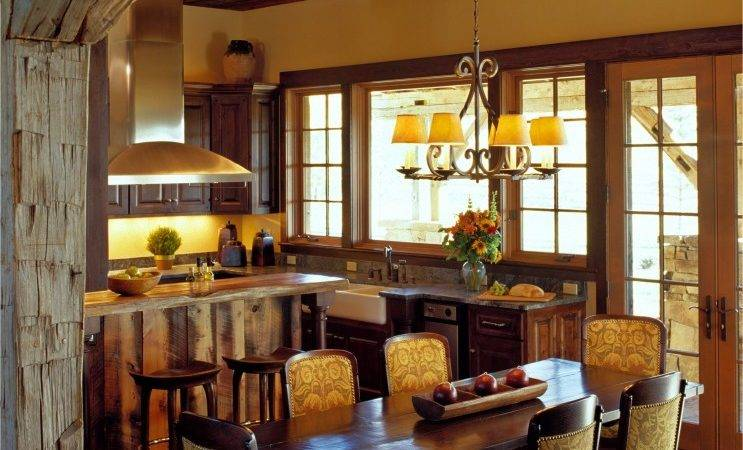 Rustic Dining Rooms Room Area Rug