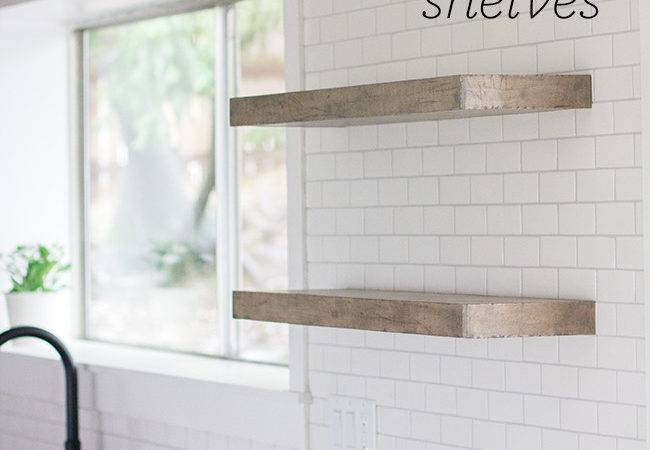 Rustic Floating Shelves Wall
