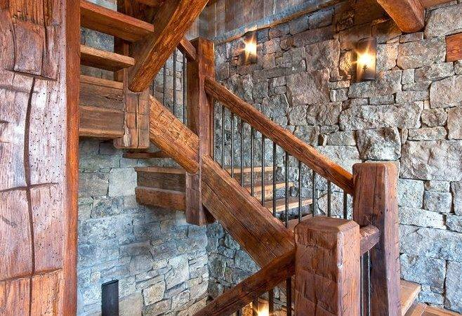 Rustic Stair Railing Ideas Living Room Earth