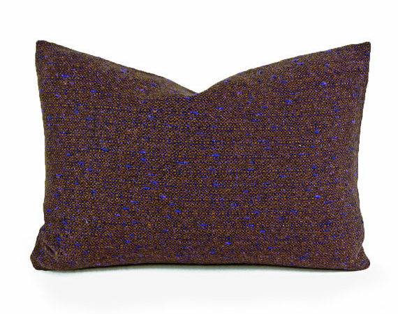 Rustic Tweed Pillow Covers Mens Wool Throw Pillowthrowdecor