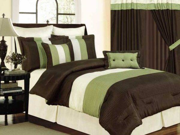 Sage Green Bathroom White Comforters