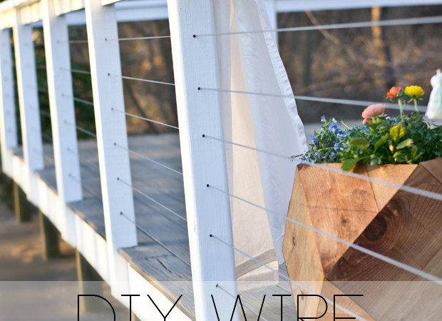 Sarah Dorsey Designs Diy Wire Railing Tutorial