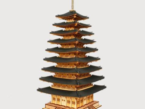 Scale Korean Temple Wooden Pagoda Mireuksaji Kit Ebay