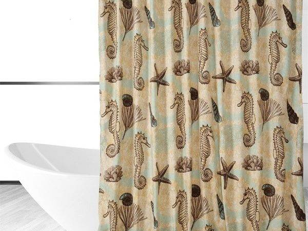 Sea Horse Shower Curtain Shipping Orders Over