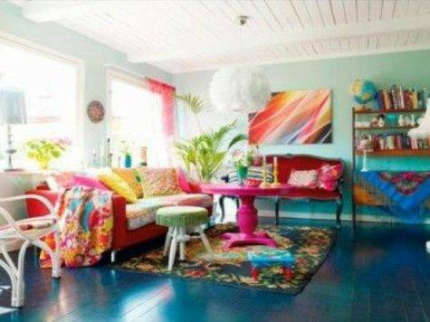 Seaside Accessories Home Colorful Living Room