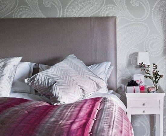 Secret Ice Pink Grey Bedroom Ideas