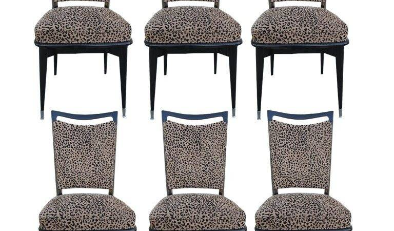Set French Leopard Print Chairs Stdibs