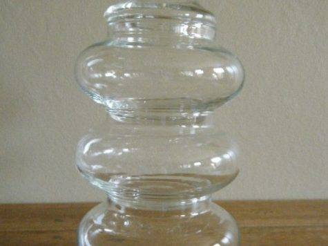 Set Short Round Stackable Apothecary Jars