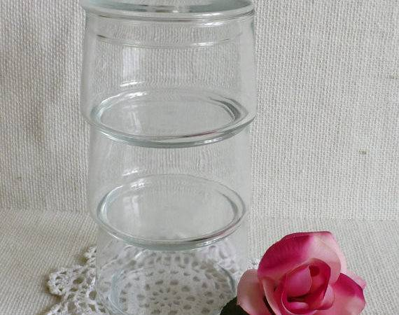 Set Vintage Stackable Apothecary Jars