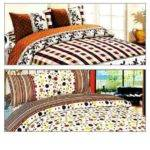 Seville Multi Color Double Bedsheet Buy Get