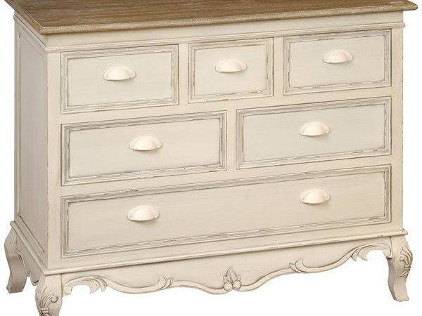 Shabby Chic Antique Cream Large Chest Drawers Bedroom