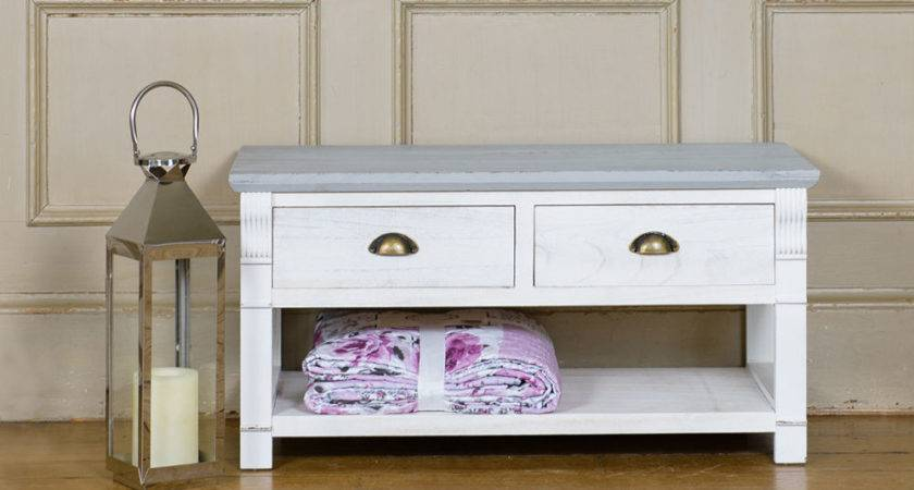 Shabby Chic Coffee Table Unit Living Room Furniture Two