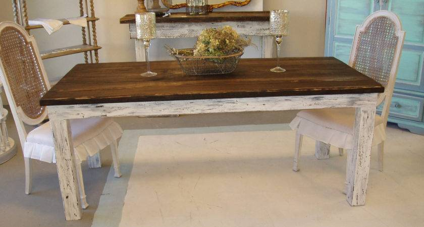 Shabby Chic Farm Table Shipping Kenryandcompany