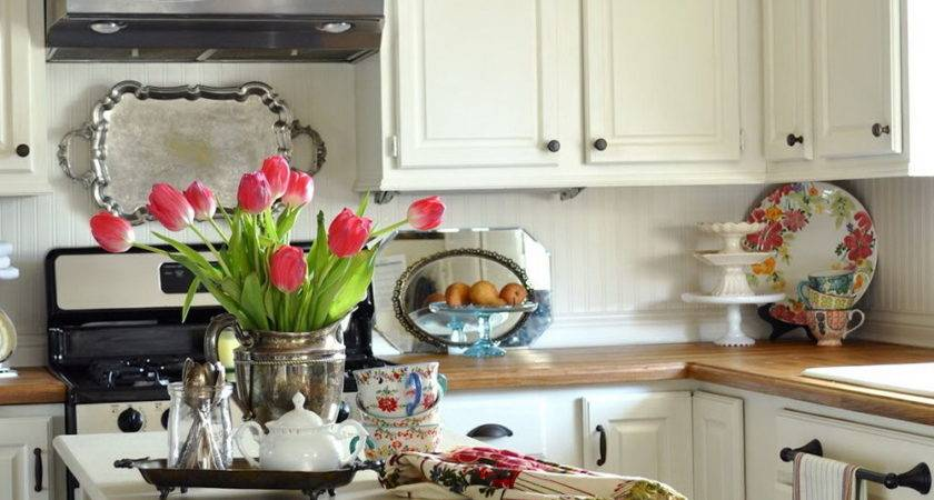 Shabby Chic Kitchen Cabinets Budget Home Design Ideas