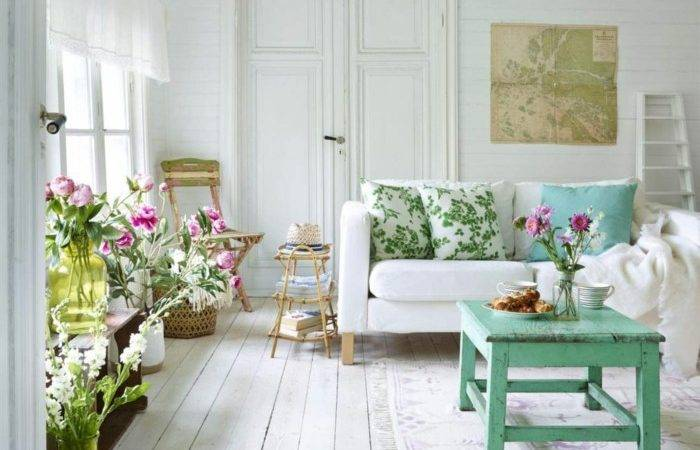 Shabby Chic Living Room Ideas Old New