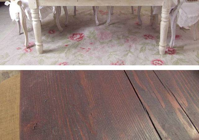 Shabby French Chic Farmhouse Farm Table Brown Rustic Ebay