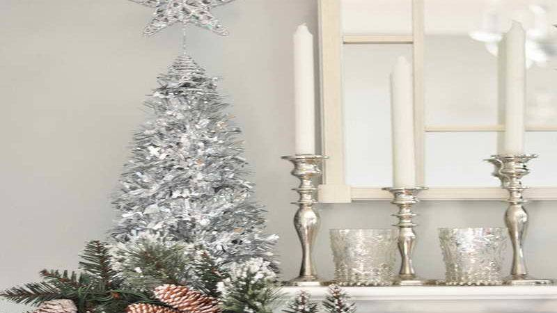 Silver Christmas Table Decorations Imgkid