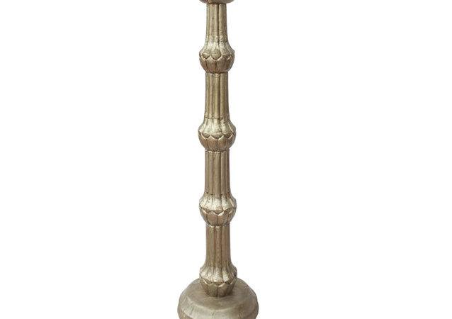 Silver Finish Wooden Candle Holder Desert Designs