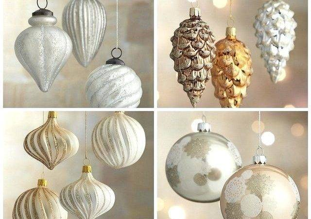 Silver Gold Decorations Christmas Tree