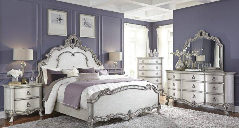 Silver White Bedroom Furniture