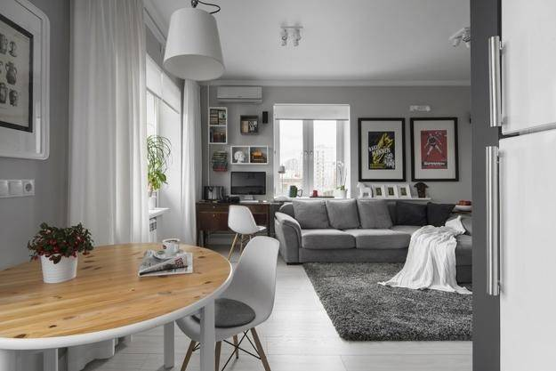 Simple Gray White Decorating Ideas Small Apartments