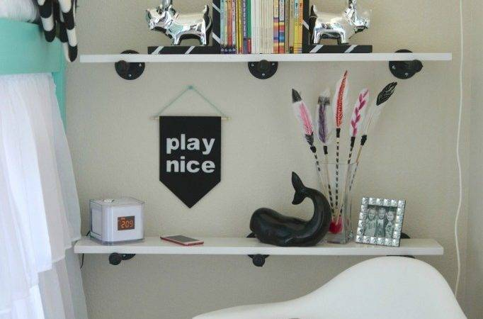 Simple Industrial Shelves Two Thirty Five Designs