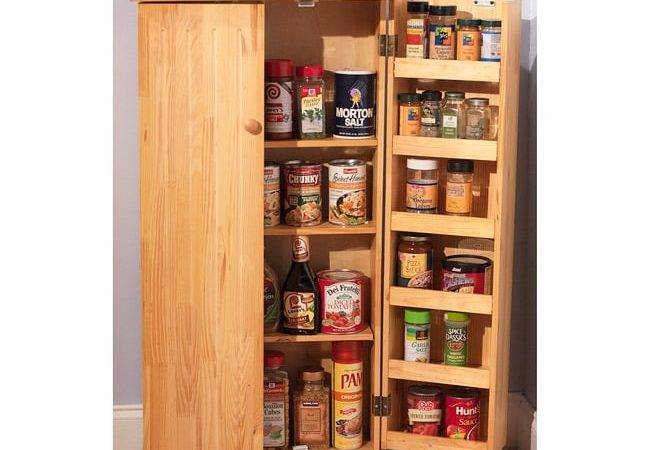 Simple Living Pine Utility Kitchen Pantry