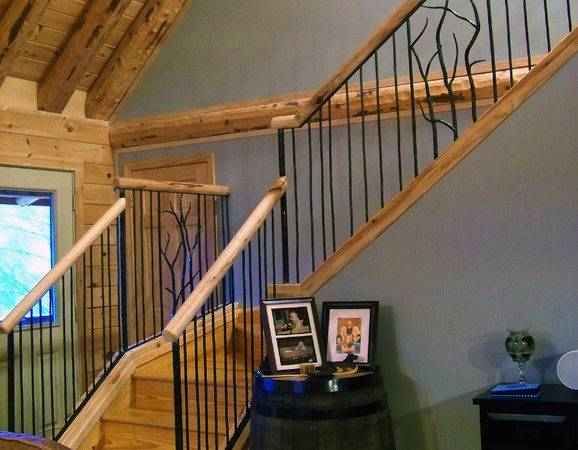 Simple Rustic Stair Iron Railings Your House