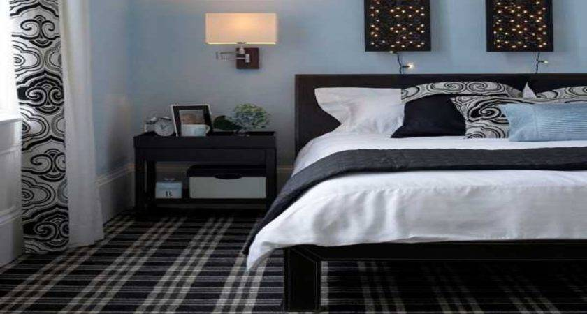 Simple Wall Decorating Ideas Black White Blue Bedroom