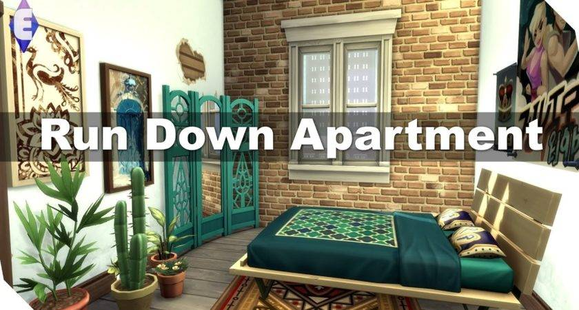 Sims Speed Build Run Down Apartment Youtube
